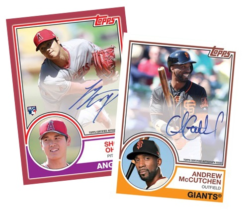 49ced3ba8 This time around, it's Game Changers, Legendary All-Stars and Rookies.  Basic parallels match 1983 Topps.